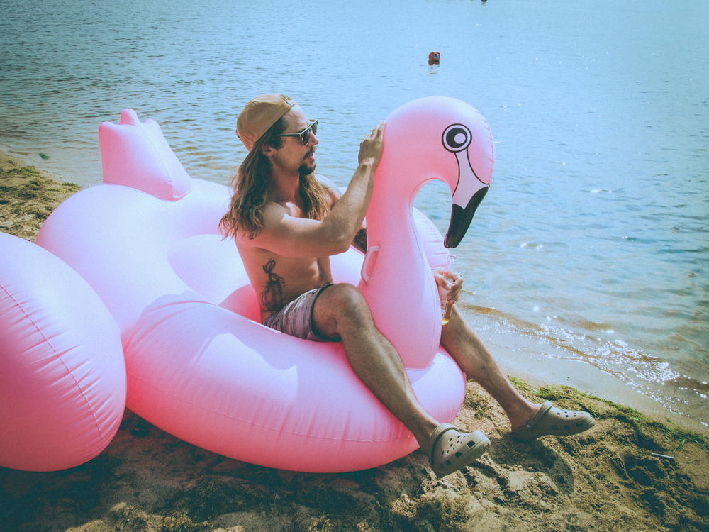 Pictured: Sonny Reid + Flamingo Friend