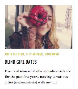 Blind Girl Dates Louise Johnson
