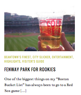 Fenway for Rookies Louise Johnson