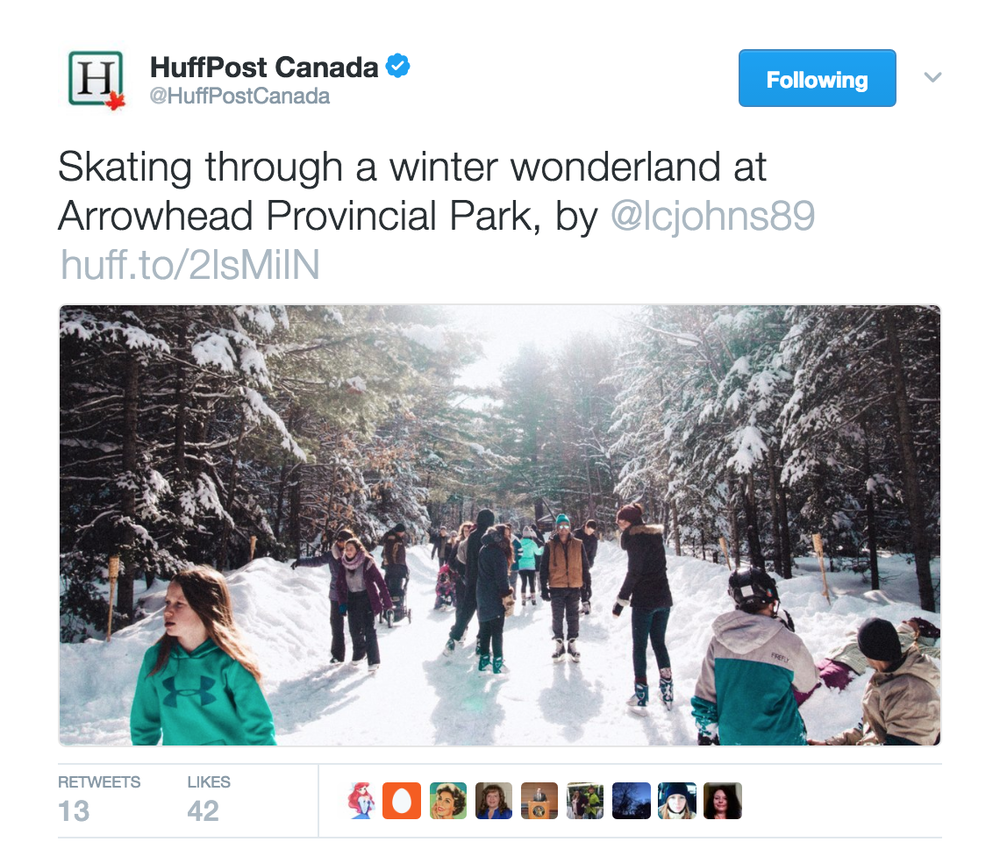 Skating Through Arrowhead Provincial Park - Huffington Post