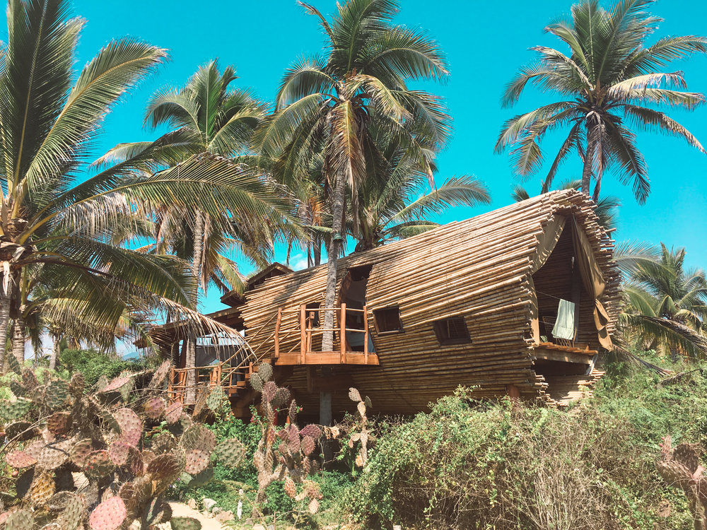 Beachfront Tree House in Mexico Playa Viva