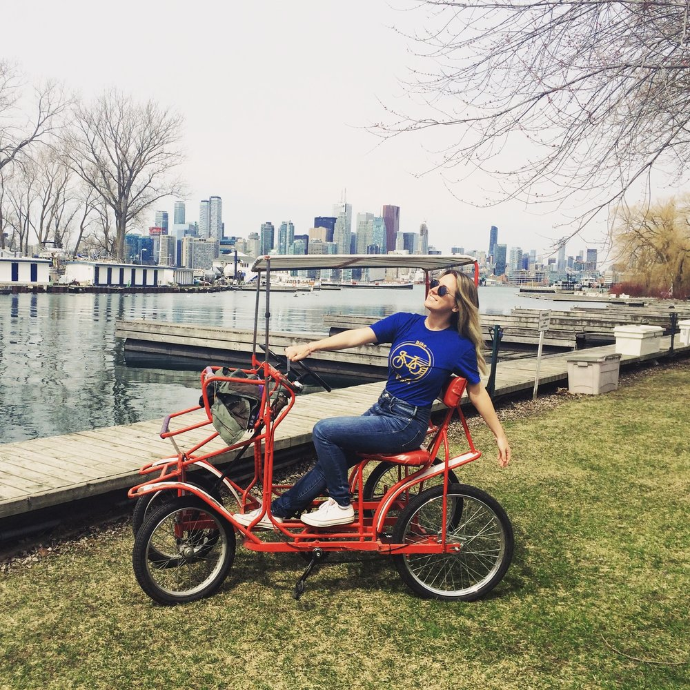 Toronto Island Bike Rental - Quadricycle - Louise Johnson