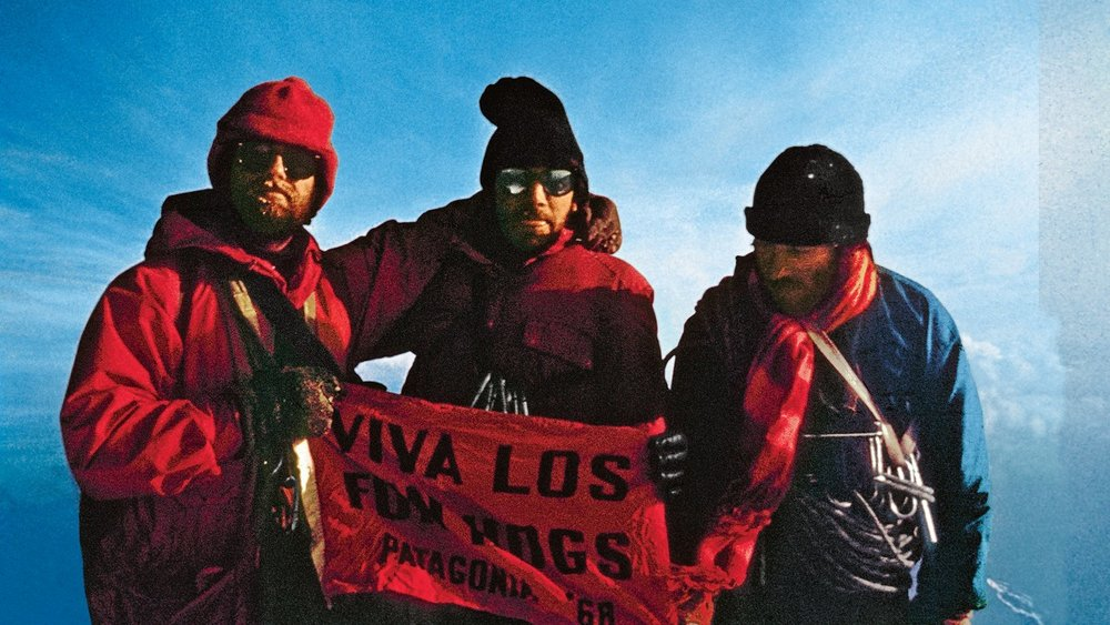 Dick Dorworth, Doug Tompkins, and Yvon Chouinard after the first ascent of the California Route. December 20, 1968, 8PM. Photo c/o Chris Jones