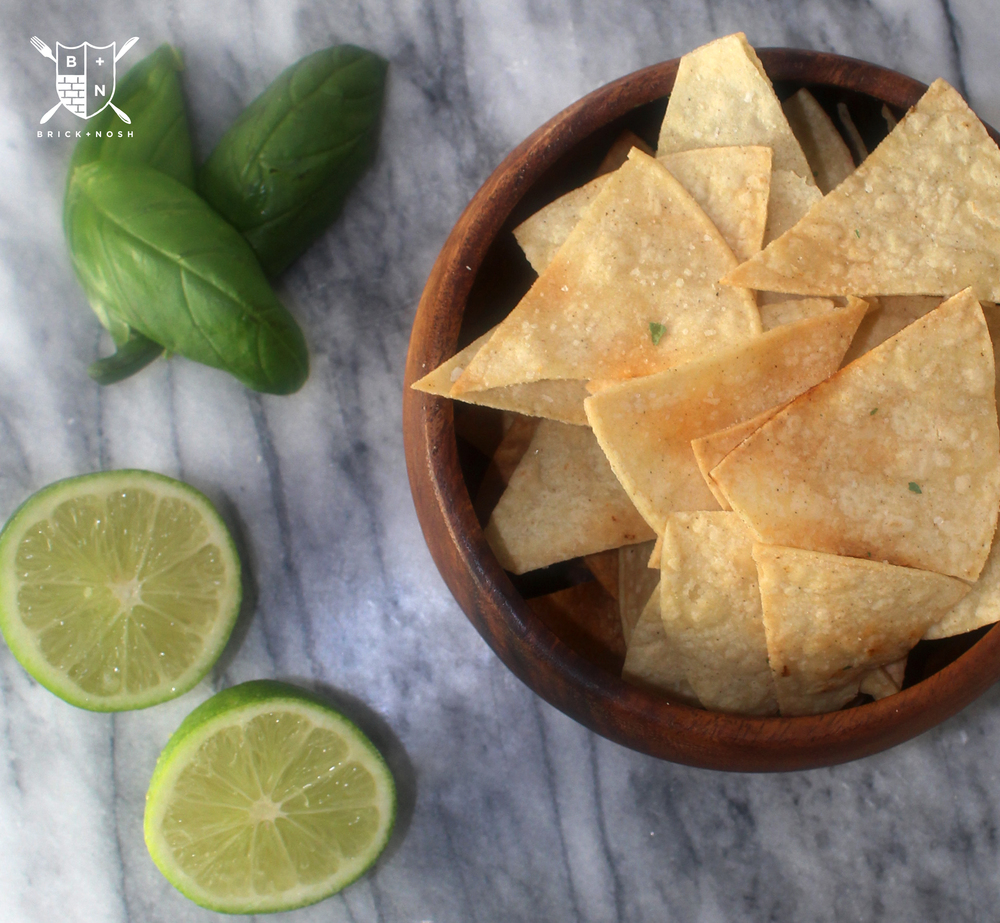 A little lime and sea salt makes these tortilla chips to die for!