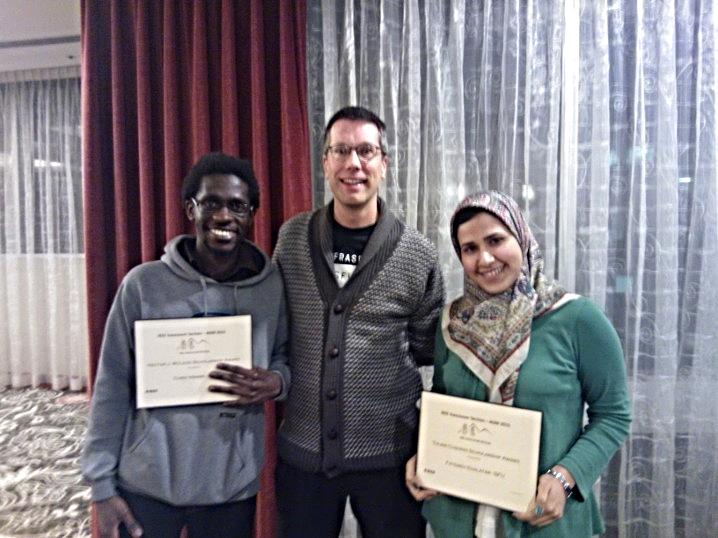 Left to right:CHRIS NSIMBE, Dr. CRAIG W. SCRATCHLEY , FATEMEH EDALATFAR