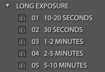Long Exposure Presets