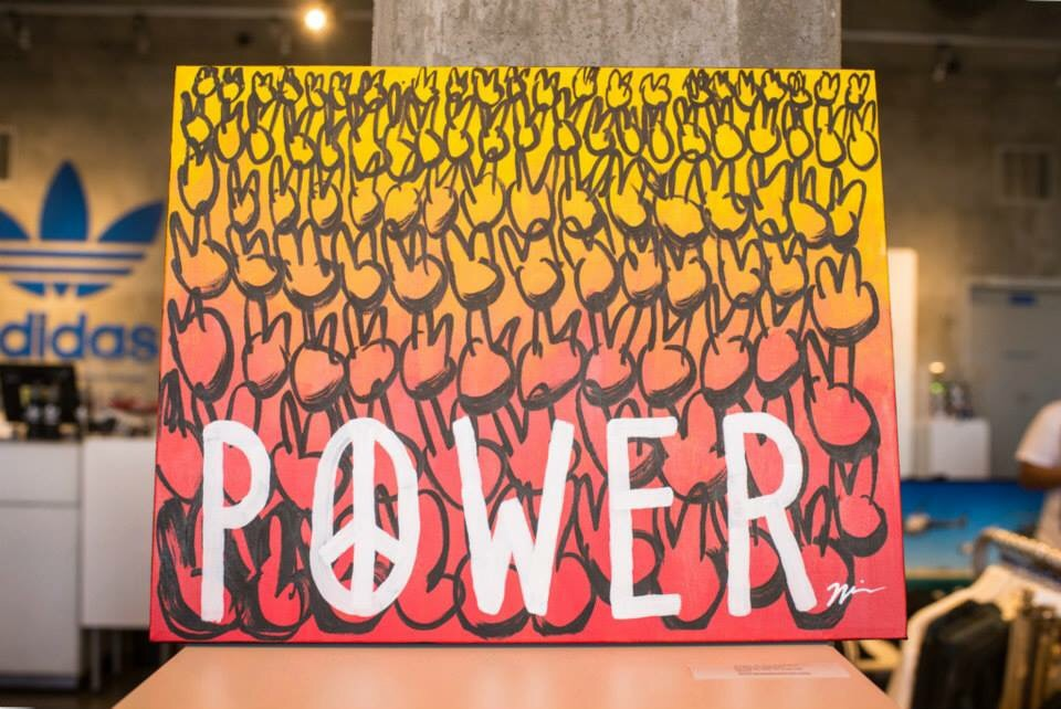 "And my newest piece ""Power To The Peaceful"""