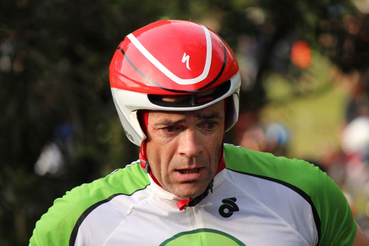This is a photo of Russell Rooster. He's inflicts pain on the top age-group men like no other.