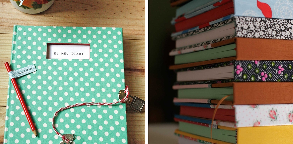 Un diari i una pila de quaderns de Trapitos al sol.