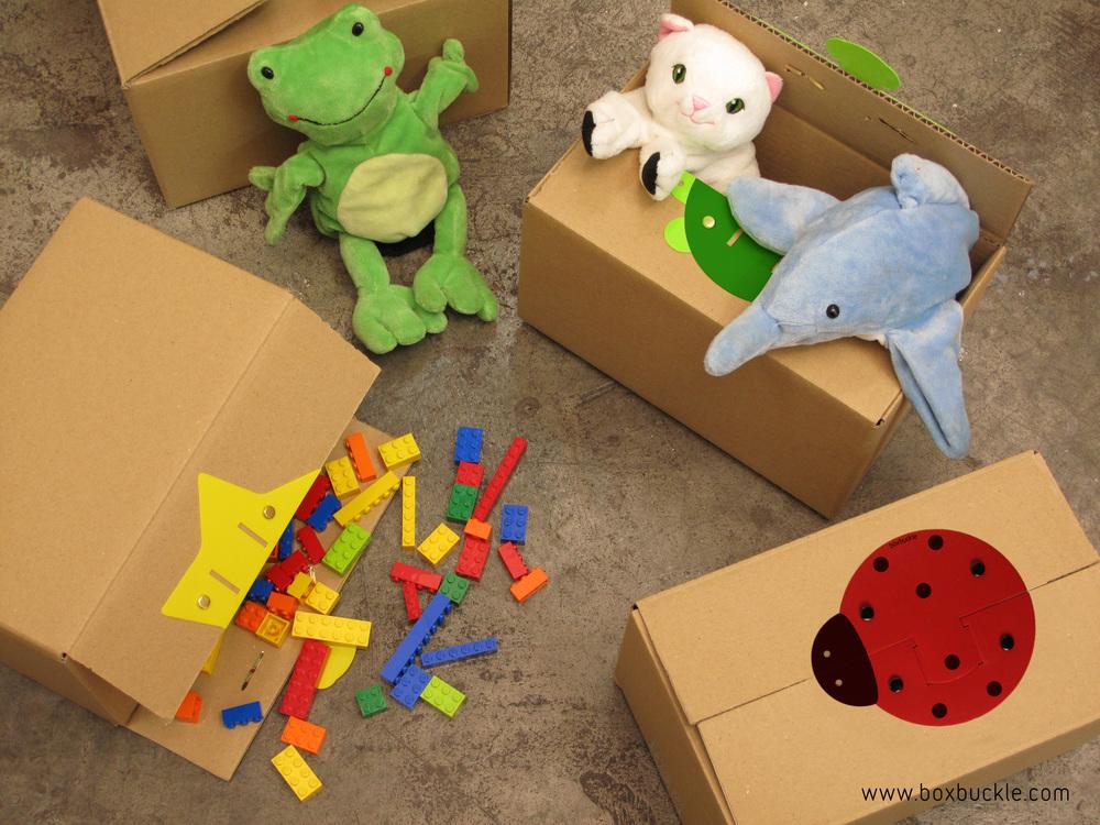 Boxbuckle és una bona solució per tancar caixes de joguines.