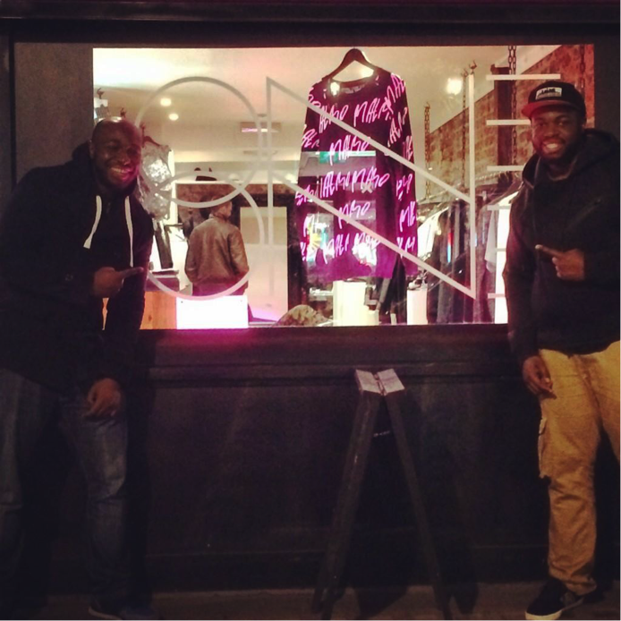 Me and my brother in front of the One by One store in Soho. London