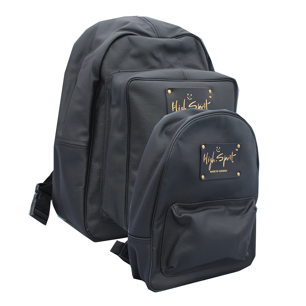 High Spirit Bags All Black Backpack F.png