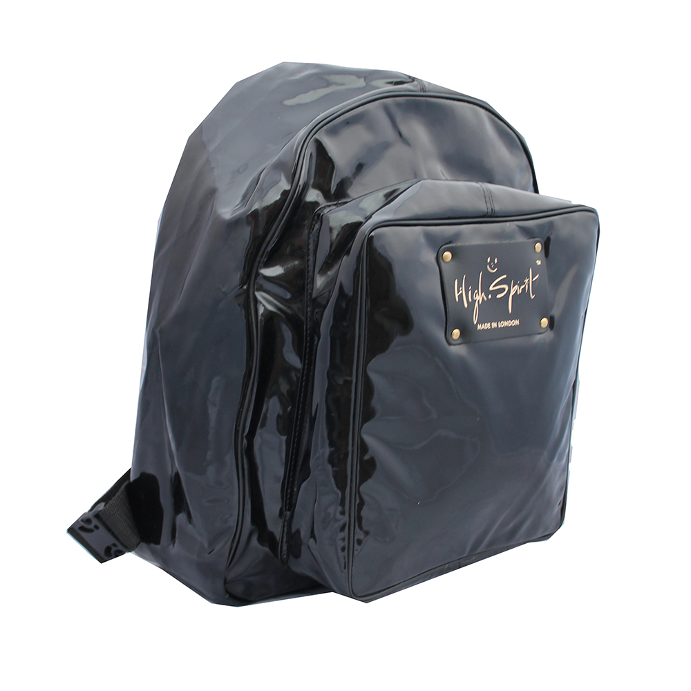 High Spirit Bags Liquid Black Backpack F.png