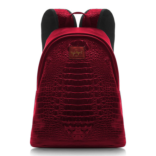 red metallic high spirit bag