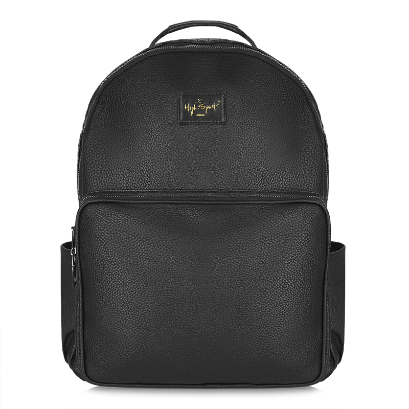 Midnight Black Laptop Backpack (Large) — High Spirit Bags edb454dd3f7