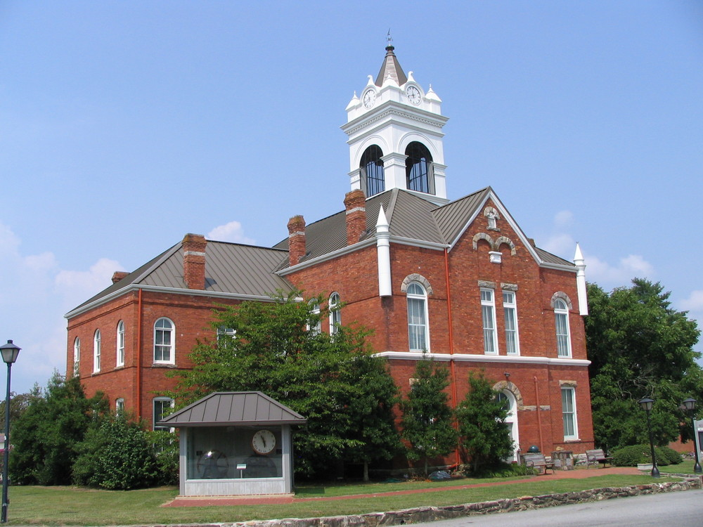 Union County Courthouse Blairsville GA By John Trainor
