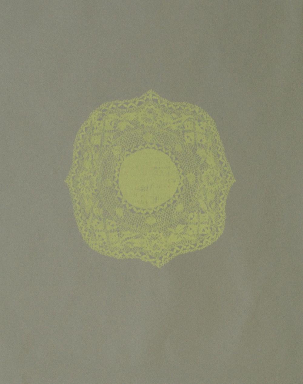 Roses Lime  Silkscreen 44cm x 54cm £160