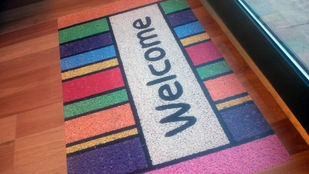 Our new 'Welcome Mat' in Reception