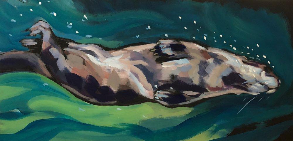 Screwdiving Otter 8x16 10_18.jpg