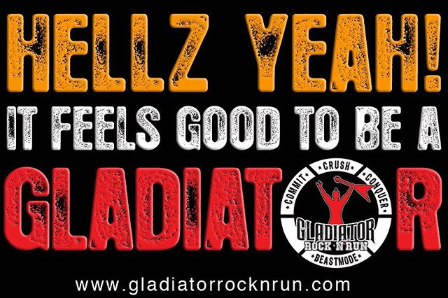 How you feel after a gladiator run! #gladiatorrocknrun
