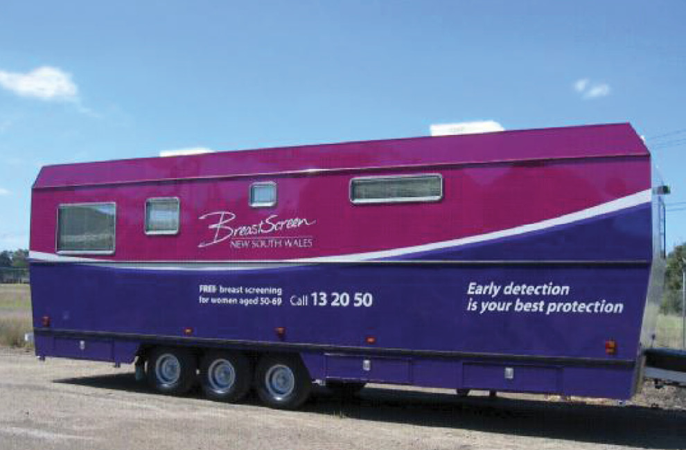 Mobile mammogram screening