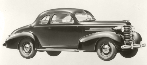 A 1937 Oldsmobile - purchased by Varley in the late 1930s using the Company's hard-earned, long-awaited profits.
