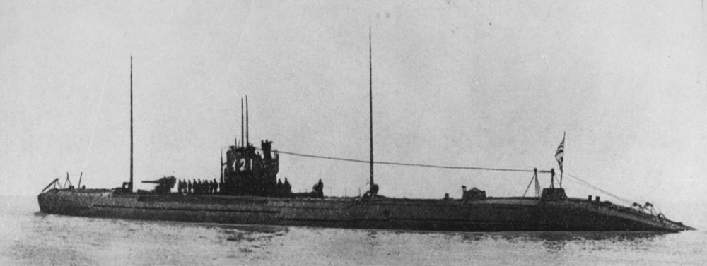 A rare photo of the Japanese 121 submarine, believed to be the type of sub that attacked vessels in the waters surrounding Newcastle during WWII. The urgent need to repair damaged ships formed a large majority of Varley's work during the war. Source: theherald.com.au.