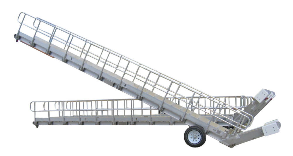 An example of the type of aluminium gangway Varley manufactured for BHP in the 1950s and '60s.