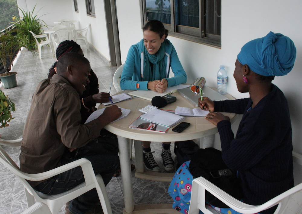 Linguists at work. Image credit: Jenneke van der Wal