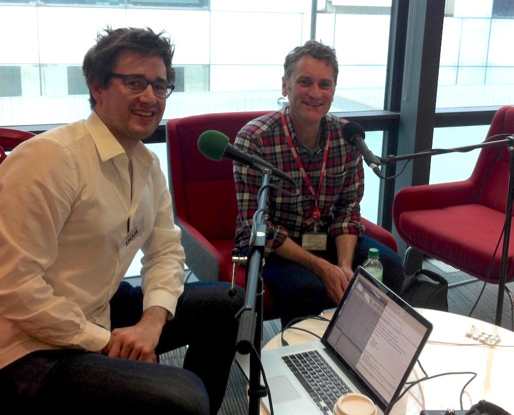 Interviewing Gareth at Broadcasting House. Image credit: Stuart Higgins