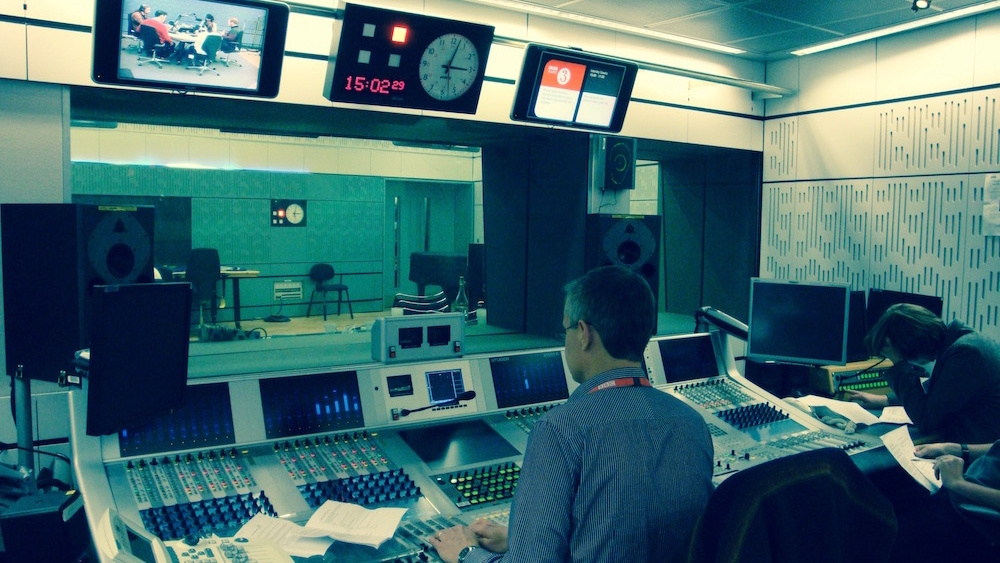 Large radio studio at Broadcasting House. Image credit: Stuart Higgins