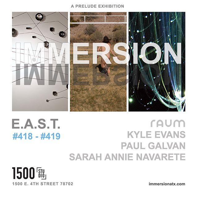 Hey Austin Friends! Come see our Immersion Prelude Show - open for EAST! Featuring work by several local artists including Optic Obscura by @raumindustries. #418. 1500 E 4th St.