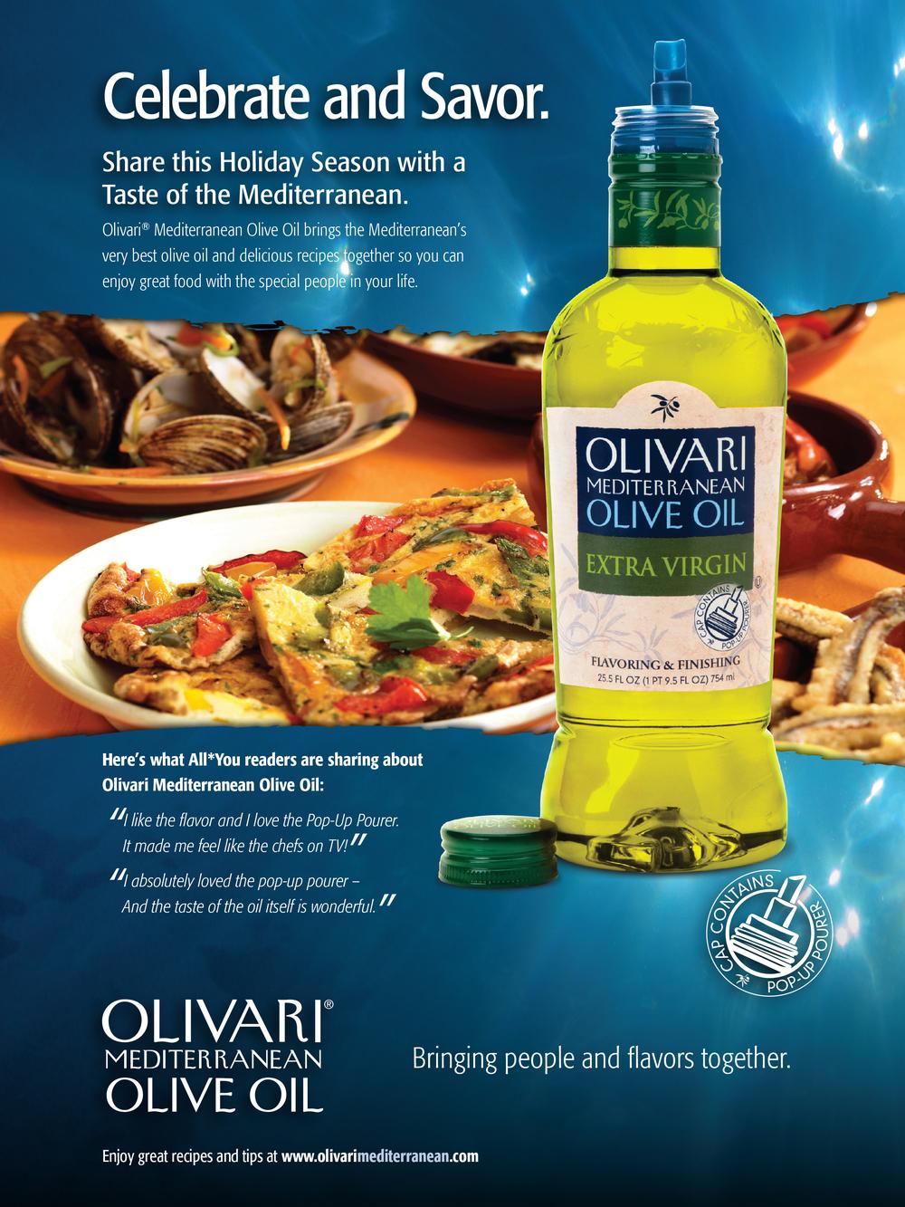 Olivari Olive Oil Brand Positioning ad.
