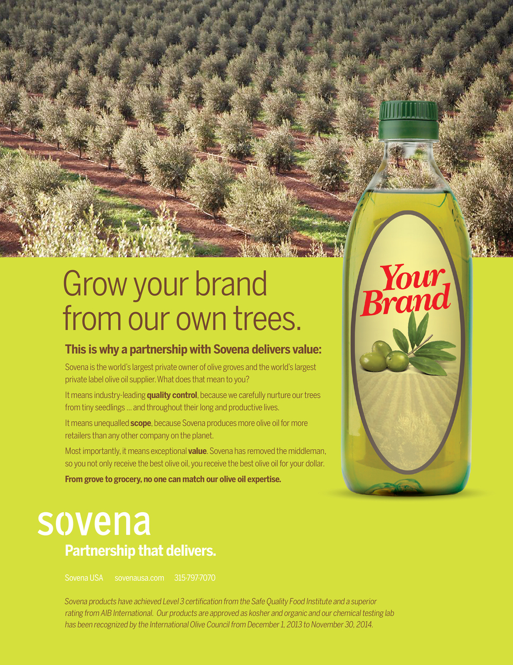 Private label services ad campaign for Sovena - the 2nd largest producer of olive oil in the world.
