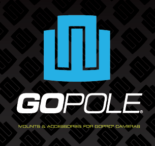 GoPole is the first manufacturer of accessories for GoPro cameras. The logo represents the unique mount connection on the camera and the unique connection between the user and GoPole.