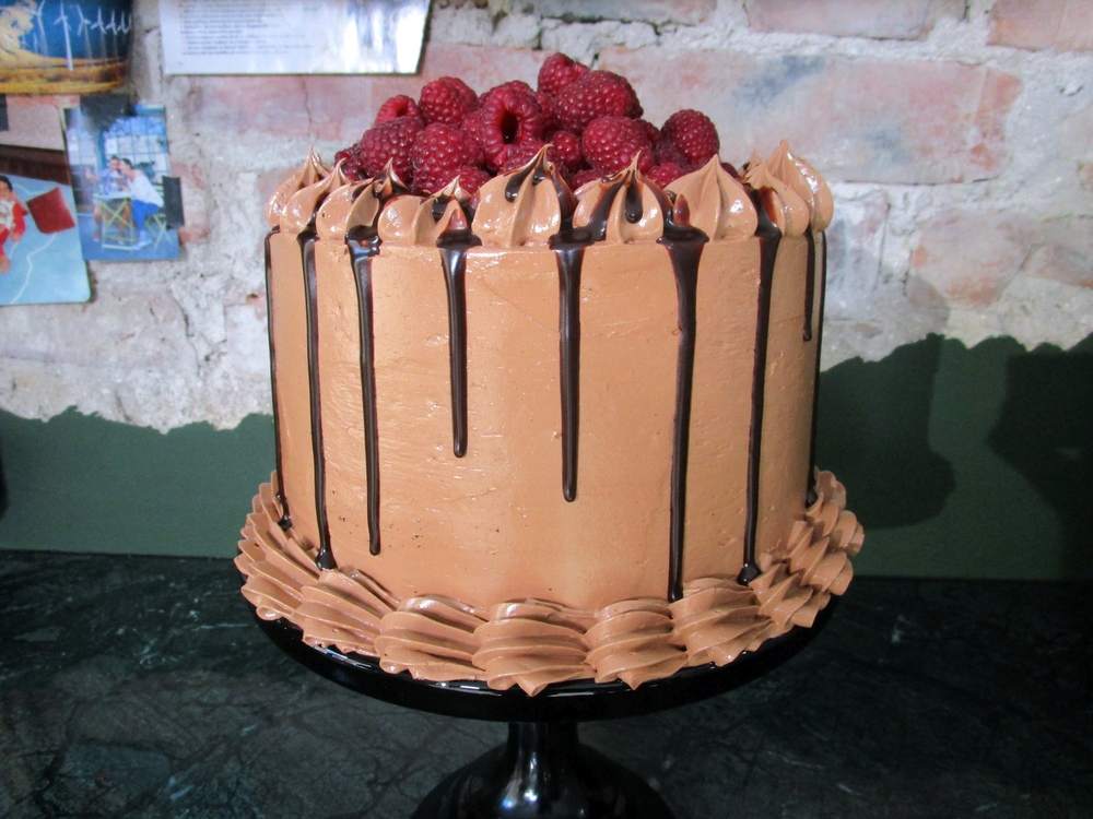 Double Chocolate Raspberry Cake Recipe — Dishmaps