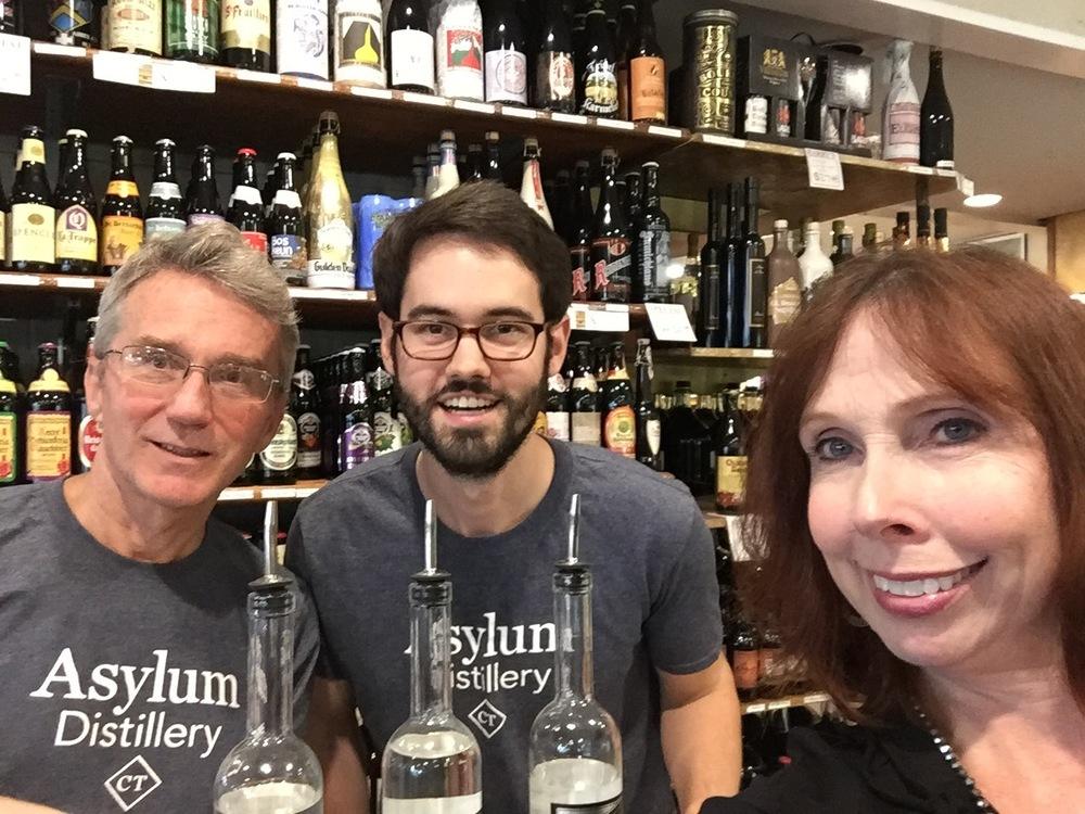 The Asylum Distillery Team Rob Schulten, Neil Doocy, Bridget Schulten