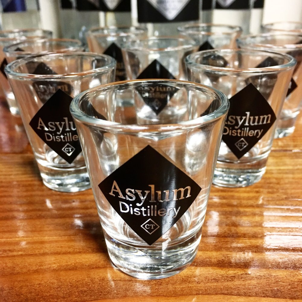 Asylum Distillery Shot Glasses