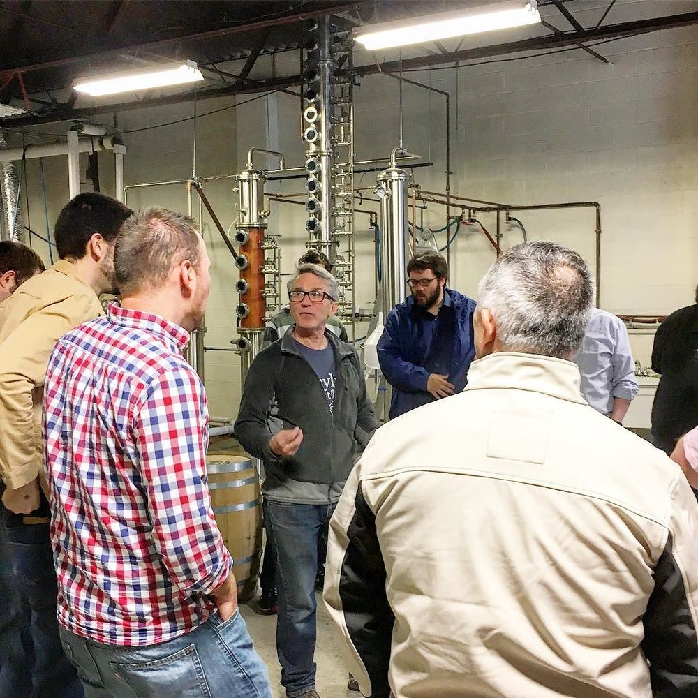 starting_our_tour_with__ct_beer_tours_today._our_distillery__rob_schulten__is_leading_the_group_around_the_distillery_before_samples_are_poured..JPG