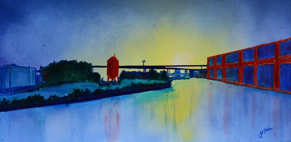 Urban River Scene