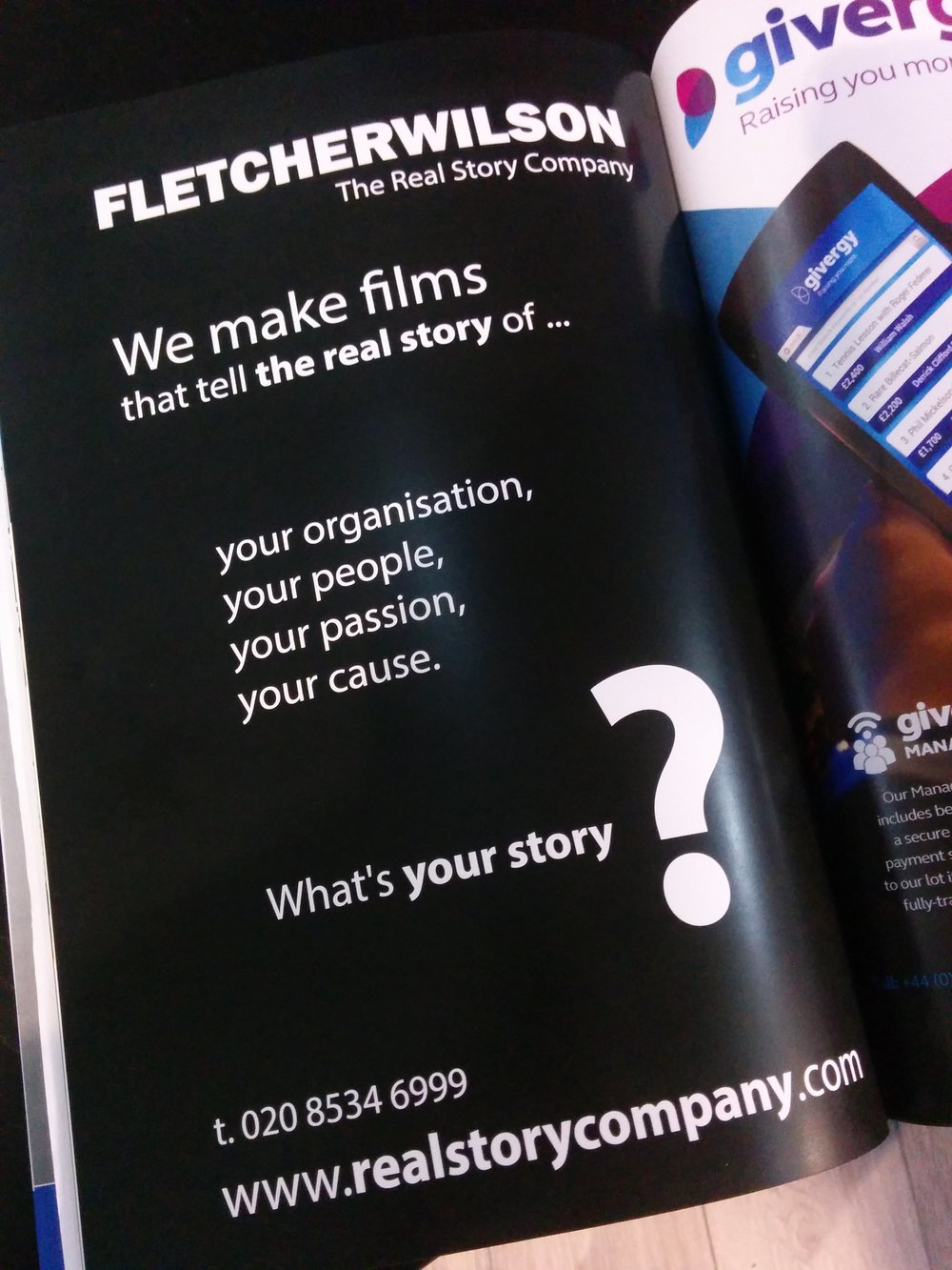 FLETCHERWILSON ad in the Charity Tech conference programme.