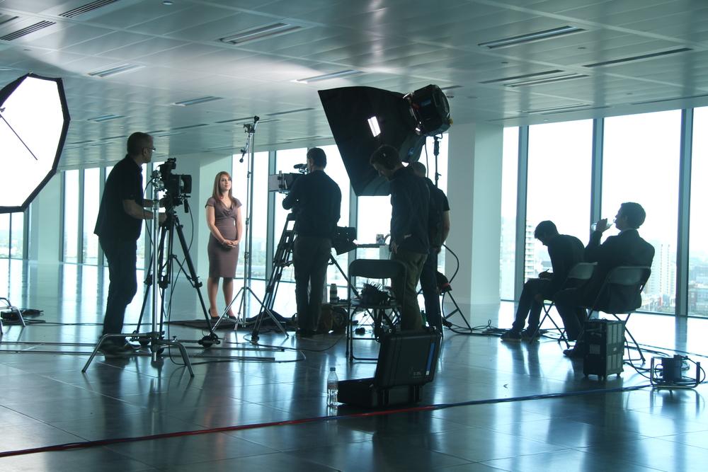 A filmed interview for KPMG's graduate recruitment programme.