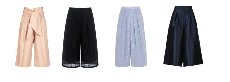 Suno Cropped Culottes J.CREW Striped Cotton-Poplin CulottesEDITCulottesMSGM Waist Tie Culottes