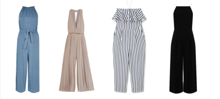 River Island Blue culotte jumpsuit Halston Hertiage Jumpsuit MANGO Ruffled Jumpsuit Warehouse Strappy Jumpsuit