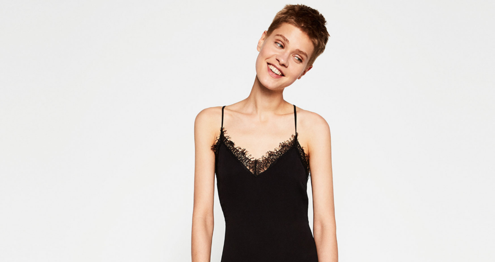You are TOTALLY allowed to wear black to a wedding try this  Dress w/ Lace Back