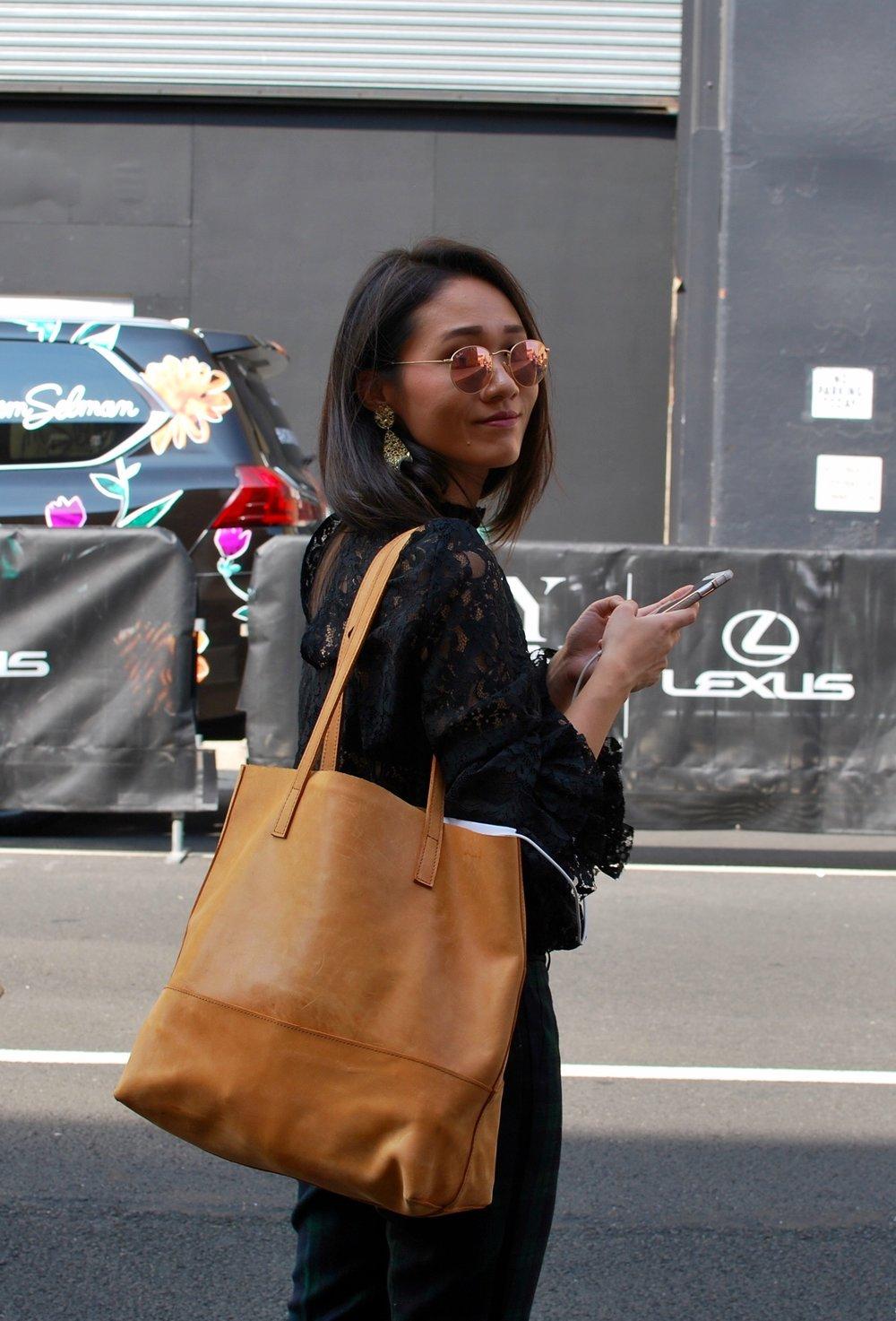 Street Style Blogger Sola Onitiri at NYFW