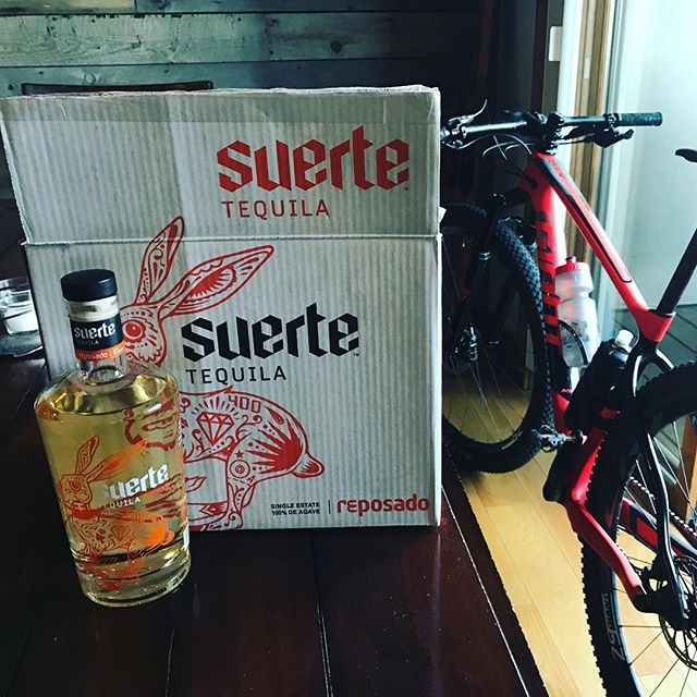 Apparently bikes aren't allowed in the condos. But Suerte is. #drinksuerte #gsboulder