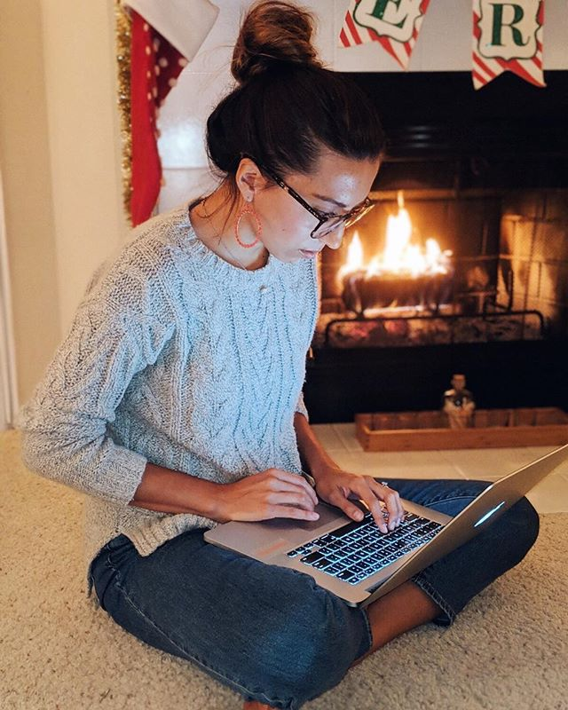 """If you need me this winter, here's where you can find me. Writing and staying cozy by the fire🎄 . When I first got the wild idea to create this online course, """"The Soul Career"""", I knew I didn't want to go it alone. I wanted to bring in mentors, teachers, friends and inspiring people who have helped me and so many others along the way. People who live THEIR soul careers every day and would inspire others to do the same. I made a list of 9 incredible people who I dreamed would become guest mentors! . Then (gulp), the imposter syndrome set in. """"Who do you think you are creating a course?"""" """"No one is going to buy this."""" """"You can't ask her to be a mentor. You're not on her level. They'll probably say no."""" I sat down to to write out all these fears and let my monkey brain run wild. 🧠  AND THEN I looked at the facts. 📊 . Fact 1: 70% of people in the US feel unfulfilled by their work (that's MOST people!) 😱 Fact 2: Studies show that having PURPOSE in your career leads to overall well-being (aka. better relationships, increased mental health, increased motivation, increased physical health. It's all connected!) 💪🏽 Fact 3: I do actually know what I'm doing; I have coached 100s of people in their career and job search—many of whom have landed amazing and fulfilling jobs! (#qualified #takethat #impostersyndrome) Fact 4: Right now, unemployment is at a record low in the US! (Aka this is a great time to get a job—one you will ❤️ ) Fact 5: Entrepreneurship is on the rise and I can show women that if they Soul Career isn't out there yet, they can CREATE a career that works for them! . SO, I told the imposter monster to """"go take a hike"""" and I invited those 9 mentors to join my course. Guess what? THEY ALL SAID YES...enthusiastically. People are more willing to help than we even realize. If you have a dream and you need some friends to help you get there, reach out—you might be met with surprise generosity. ✨ . If you join The Soul Career, you will get to learn from, not only me, but"""