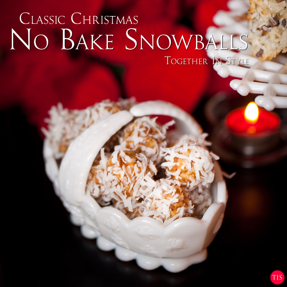 No Bake Snowball Christmas Cookies