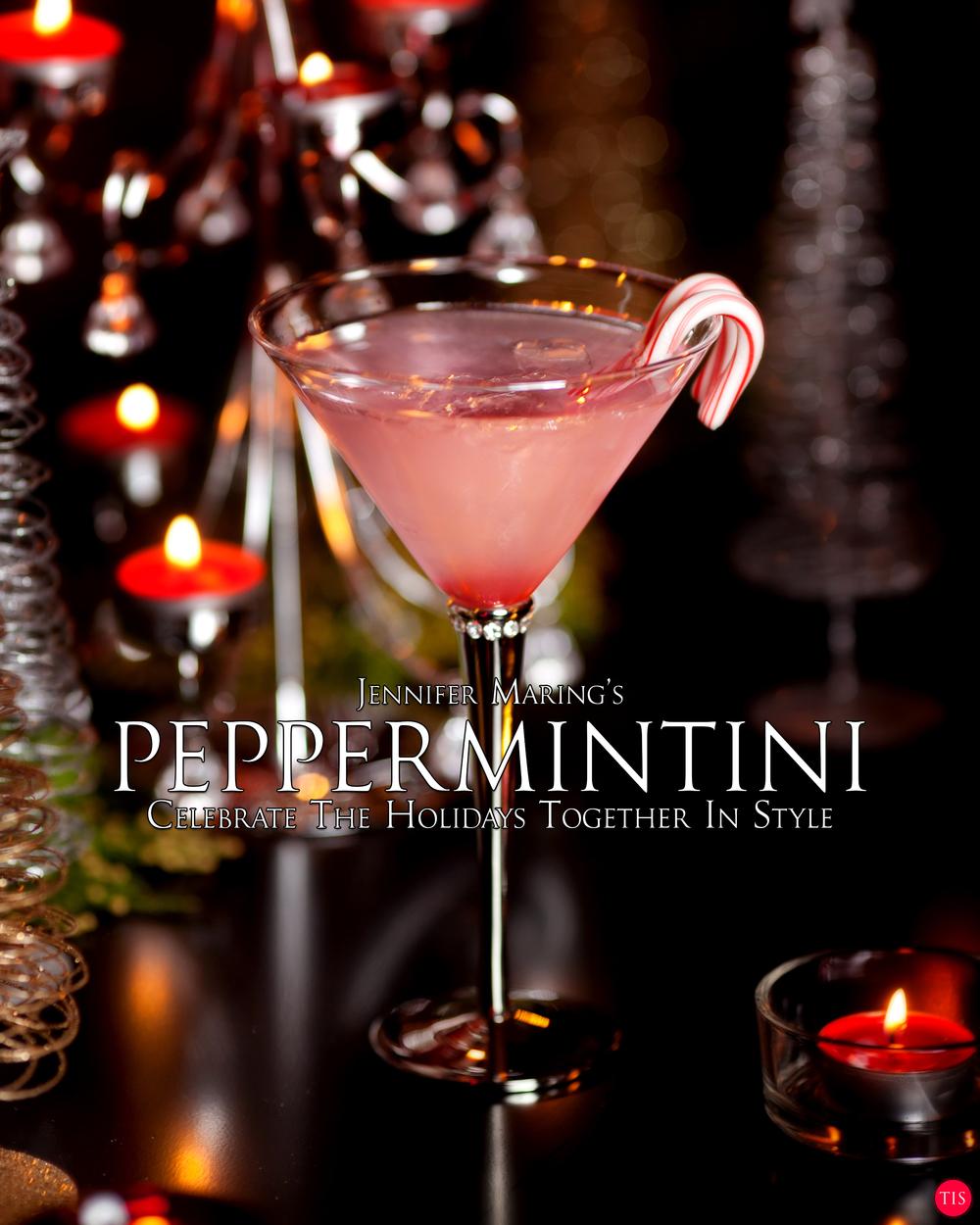 Peppermintini Christmas Cocktail